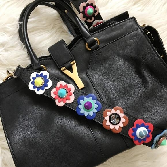 58298550fc Handbags - Multi Color Floral Faux Leather Bag Strap Fendi